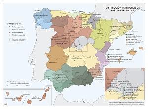 Distribución territorial de las universidades