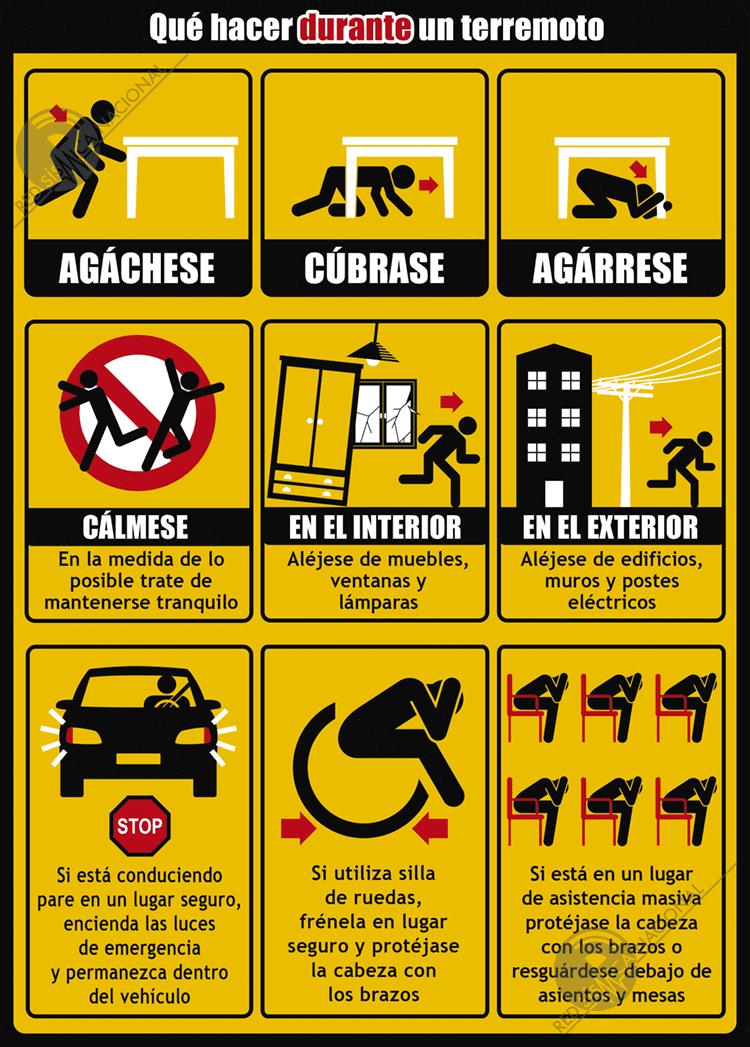 Qué hacer durante un terremoto