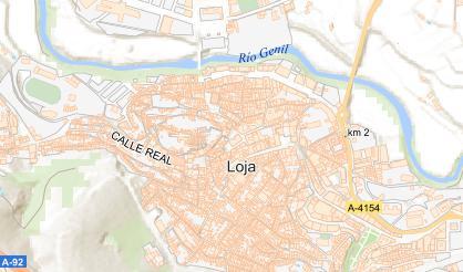 Mapa de posición de la actuación (nivel de zoom alto)