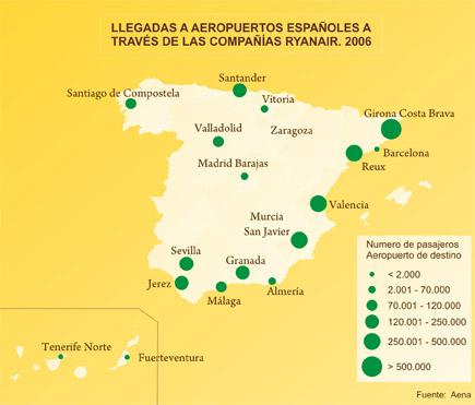 Aeropuertos En España Mapa.Espana A Traves De Los Mapas