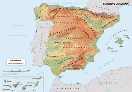 Mapa Geográfico De España.Espana A Traves De Los Mapas