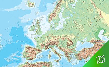 Mapa físico de Europa