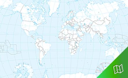 Mapa mudo político del mundo