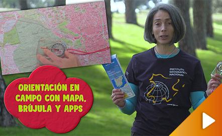Orientación en campo con mapa, brújula y apps
