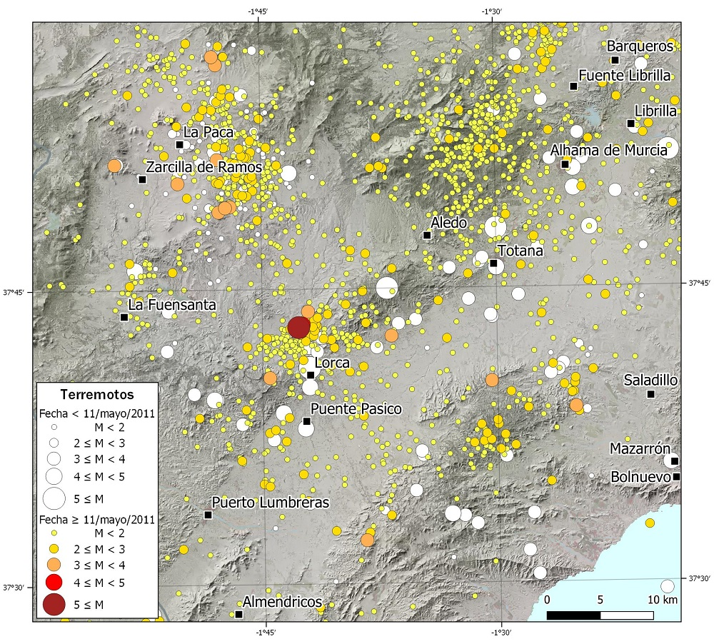 Mapa sismicidad