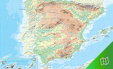Mapa físico de España
