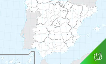 Mapa mudo político de España