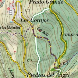 Carte Andalousie Ign.Capileira En Andalousie Carte Ign Et Topographique De La