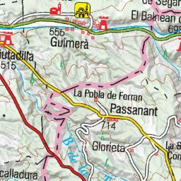 Vallfogona De Riucorb Mapa.Wikiloc Ruta De Vallfogona De Riucorb A Savalla Del Comtat Segura I Saladern Per La Vall Del Riu Corb