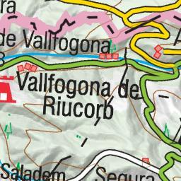 Vallfogona De Riucorb Mapa.Wikiloc Ruta Vallfogona Riucorb L Ametlla Balneari Vallfogona Sant Pere